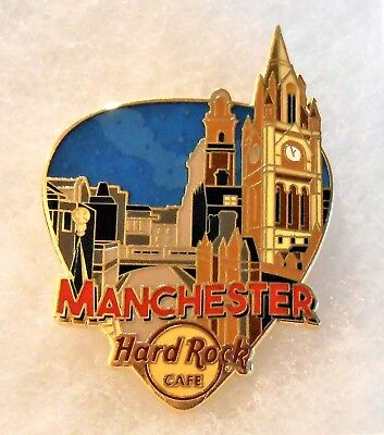 HARD ROCK CAFE MANCHESTER GREETINGS FROM GUITAR PICK SERIES PIN # 96359