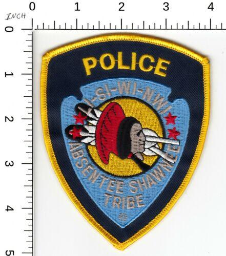 ABSENTEE SHAWNEE TRIBAL POLICE PATCH OKLAHOMA OK LI-SI-WI-NWI
