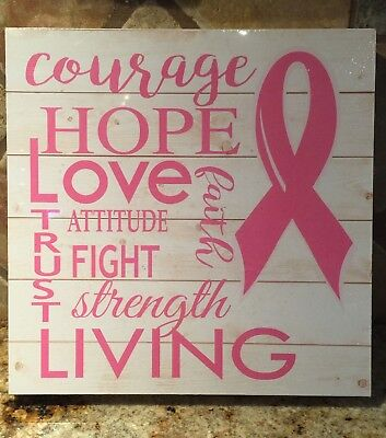 Breast Cancer Decor (Breast Cancer Awareness Wall Décor)