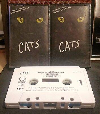 CATS Complete Original Broadway Cast Recording (2 × Cassette, 1983, Geffen)