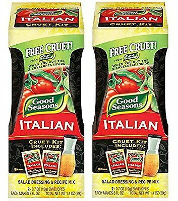 Good Seasons Salad Dressing Kits, 2 Cruets, 4 Count Italian Dressing Mixes