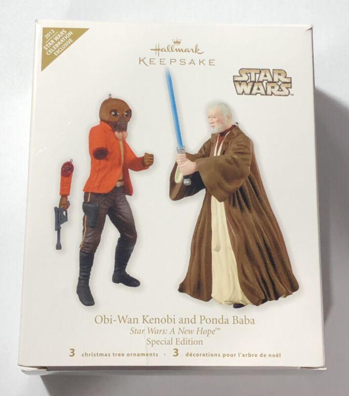 2012 Hallmark Star Wars Celebration VIObi-Wan Ponda Baba Keepsake Ornament NEW