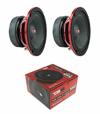 "4 DS18 PRO-X6M 6.5/"" Midrange Speakers 1800 Watt 8 ohm Loud Midbass Loudspeakers"