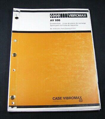 CASE Vibromax AV600 Vibration Plate Compactor Parts Manual Book Catalog AV 600 - Vibrations Plate Compactor