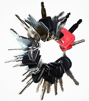 24 Keys Heavy Equipment Construction Ignition Key Set Excavator Dozer Backhoe