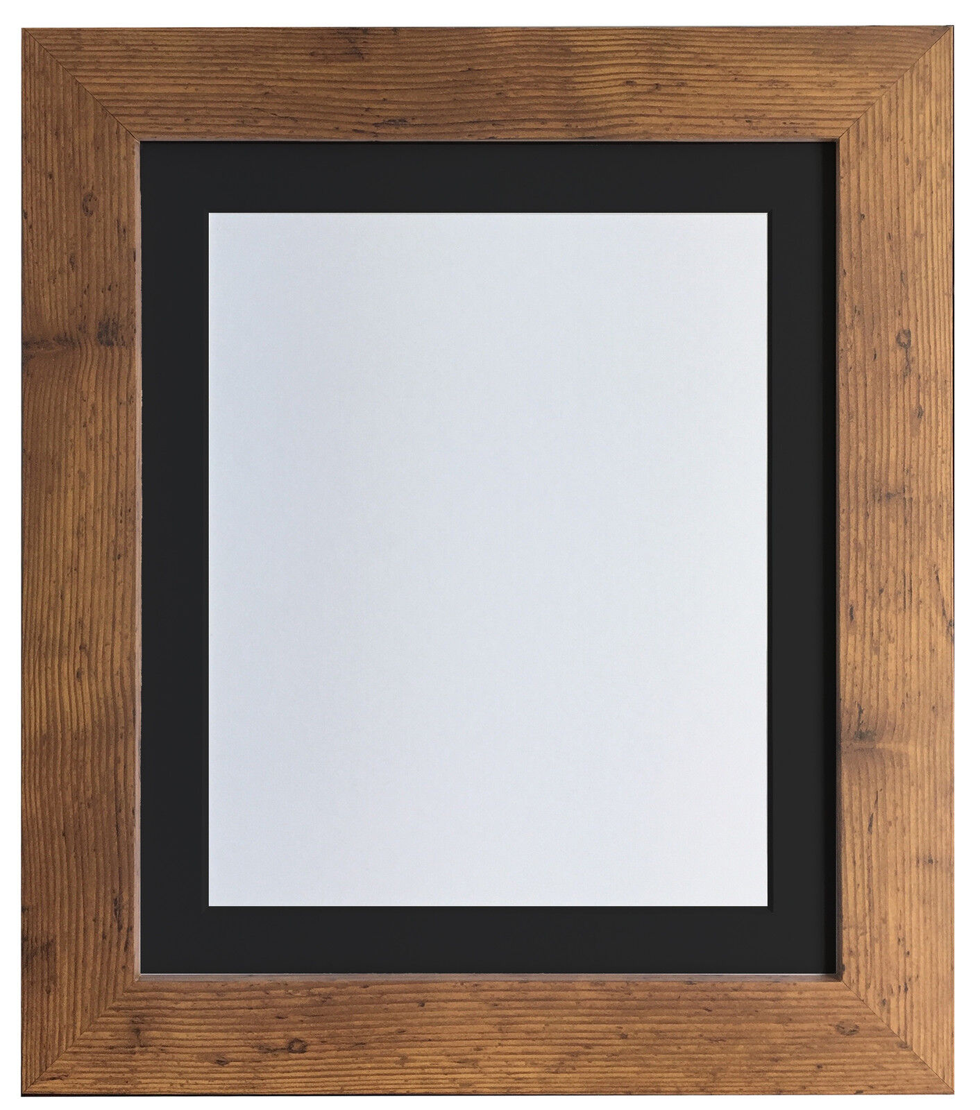 Metro Vintage Wood Picture Photo Frames with Black White & Ivory ...