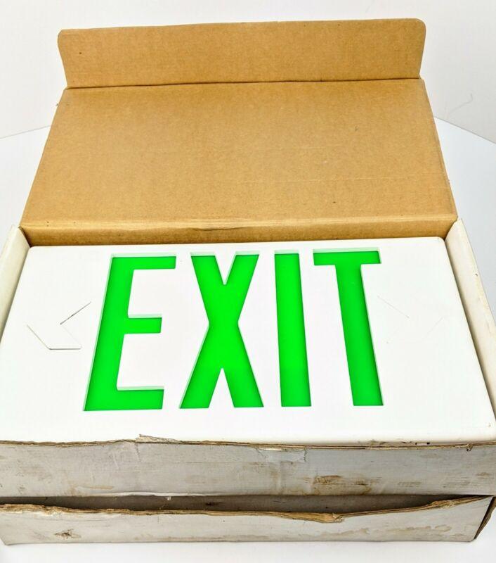 X2 Cooper Lighting Sure-Lites Exit Sign Single or Double Face LPX70DGWH Green