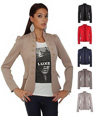 AO Blazer Uniform Stil  Military Damenblazer Casual Business Kostüm - Damen Uniform Kostüm