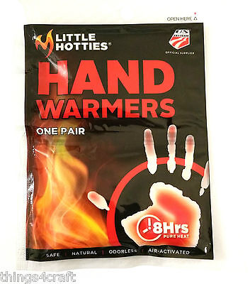 Hand Warmers Little Hotties Keep Hands Warm for up to 8Hrs Insert in Ski glove