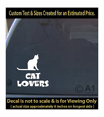 Cat lovers 6 inch decal pet lover best friend car laptop more swp1_5