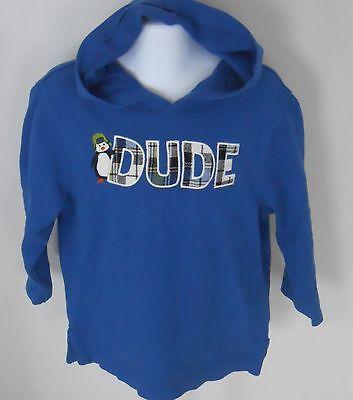 Gymboree Boy's Ice Hero Blue Dude Hooded Shirt Size 6-12 Months