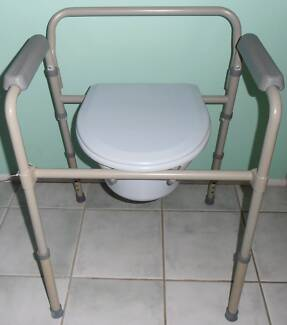 Care Aid for the elderly - Over the toilet seat Commode Chair ...