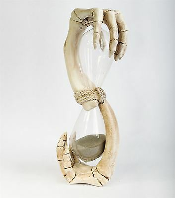 Hands of Time 2 Minute Sand Timer 20.5cm High Gothic Hour Glass Nemesis Now