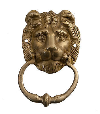 HAMMER KNOCKER DOOR LION BRASS SOLID 700 Grs D5 9734