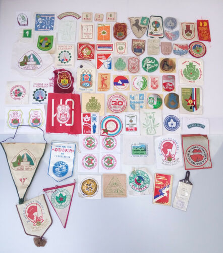 YUGOSLAVIA vintage BOY SCOUT Emblems, Patches and Stickers ULTRA RARE LOT