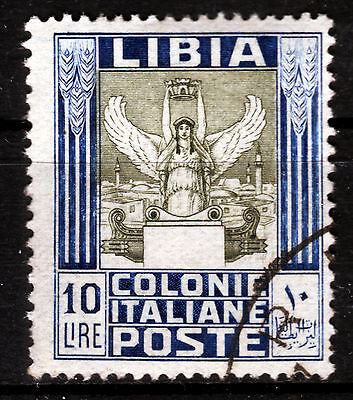 Ital. Libyen 35, O, 10 Lire Freimarke Antiken