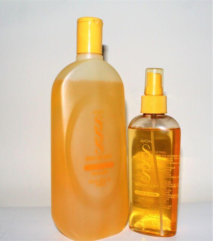 Avon Skin So Soft Light & Lush Foam Bath 16 oz with 5.7 oz Body Spray Set NOS