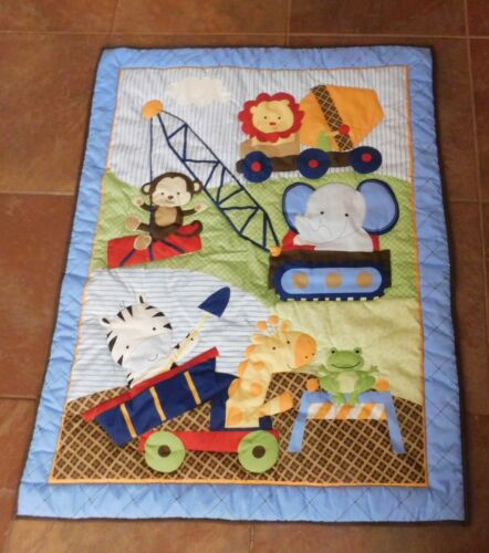 "Baby Quilted Bed/Cot Cover NWOT - 43"" x 33"""