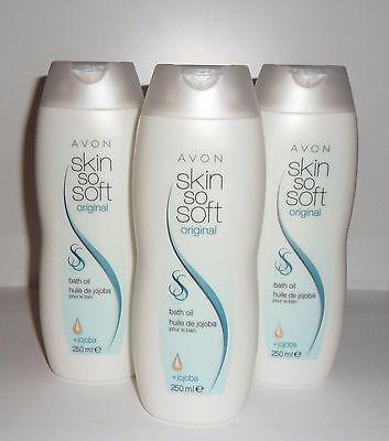 (2,40€/100ml)Avon SKIN SO SOFT Bade- und Körperöl Original mit Jojoba 3x250 ml