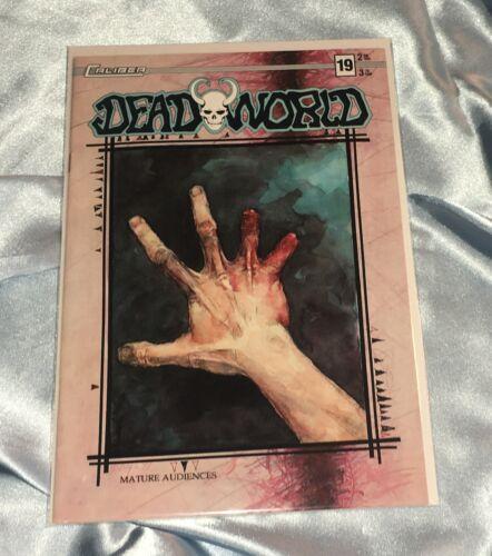 DEADWORLD #19~VINCENT LOCKE ART~ZOMBIES/WALKING DEAD~HTF~CALIBER COMICS BOOK~