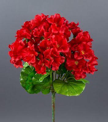 Geranie 26cm rot -ohne Topf- ZF künstliche Blumen Kunstpflanzen Kunstblumen
