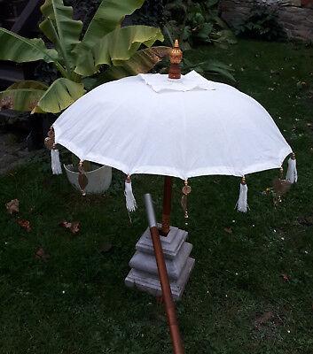 80cm Ø Bali Tempel Sonnen Balkon Schirm  Weiß REDUZIERT von 79 euro