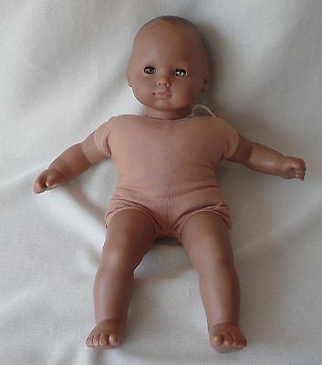 American Girl Pleasant Company Bitty Baby Doll Dark Hair Medium Skin Silver Eye