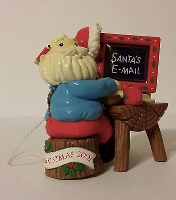 Santa's E-Mail Merry Christmas 2001 Christmas Ornament Computer Desk ()