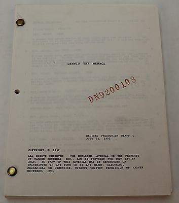 Dennis The Menace * 1992 Original Production Draft Movie Script