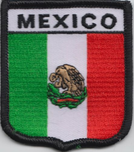 Mexico Flag Shield Embroidered Patch Badge