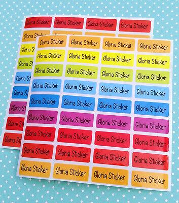 120 EIGHT COLORS Custom Waterproof Name Labels-SCHOOL,NURSERY(Buy 5 get 1 FREE) - Buy Custom