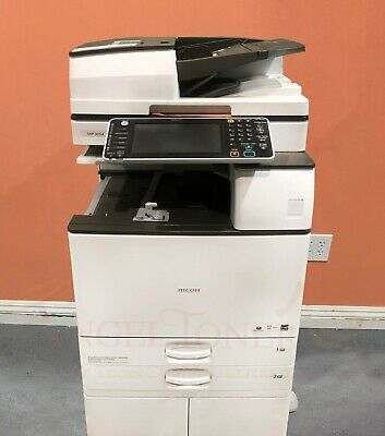 Ricoh Aficio Mp 3054 Bw Mono Printer Copier Scan Network Mfp 30ppm Laser A3 3053