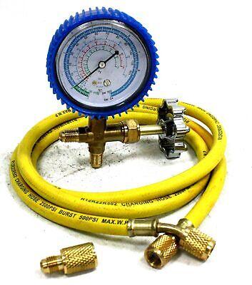 Ac R134a R12 R22 Single Manifold Gauge Kit 4 Testing Charging Air Conditioner