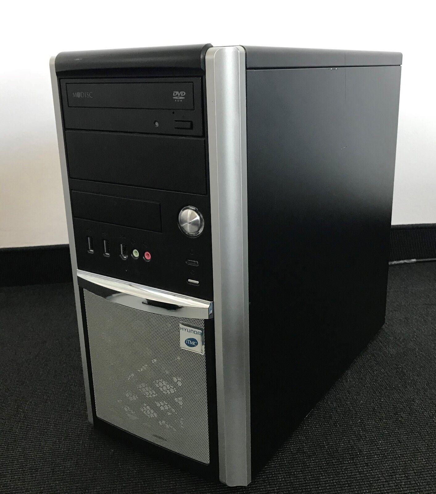 PC-Gehäuse ATX MODISC Mini Tower Netzteil 350W DVD Laufwerk SATA  mit Kratzer