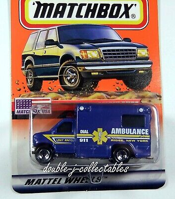 1999 Matchbox AMBULANCE RIDGE NEW YORK Matchbox USA 5/100