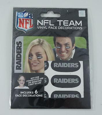 Oakland Raiders Team Logo NFL Eye Black Strips (3 Pair)