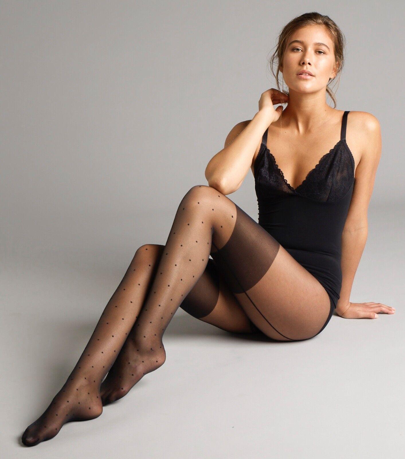 1 paio. Nero poliammide Jonathan Aston Women/'s Midi-NET Hold UPS