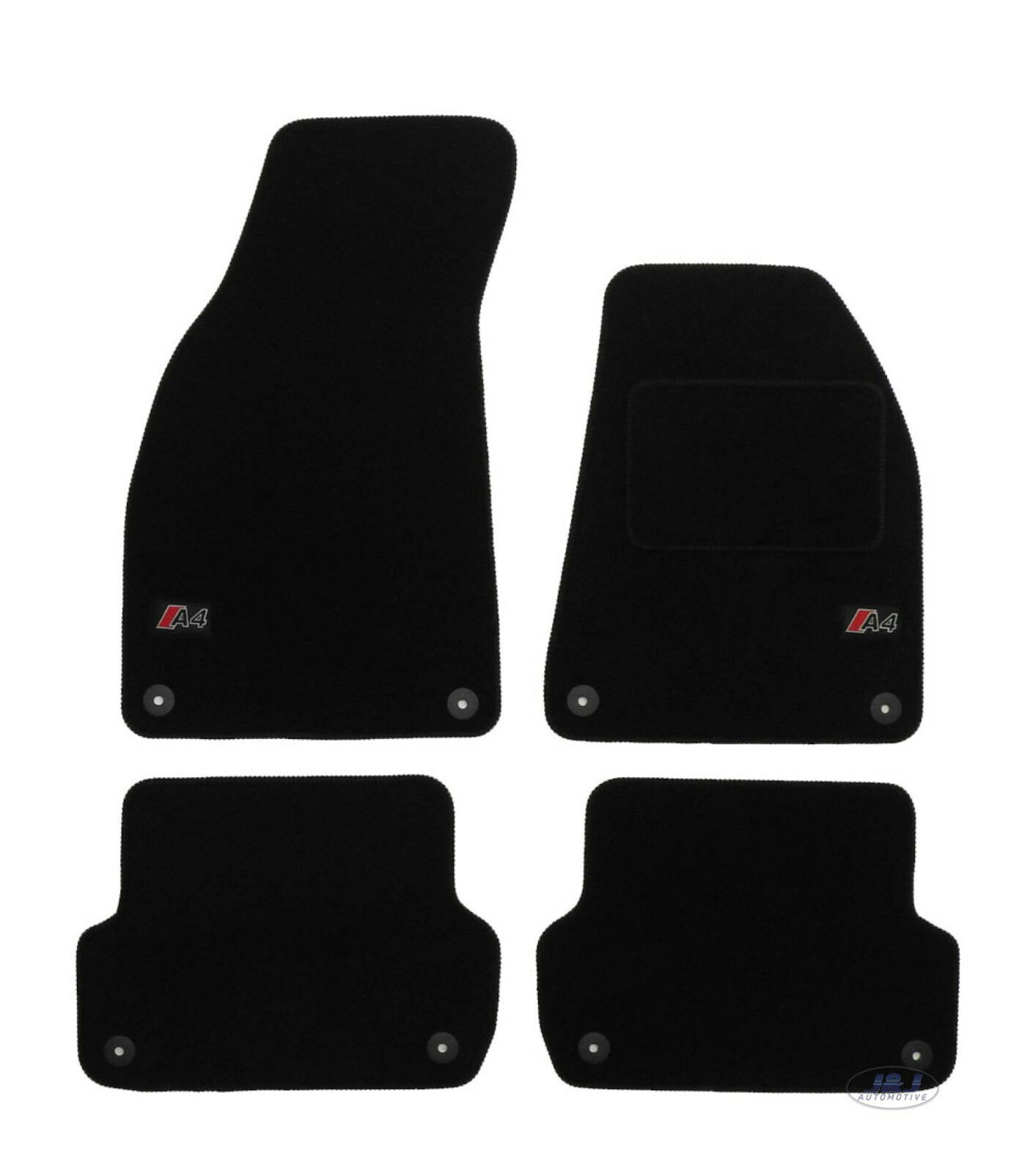 LUKAU002 TAILORED Black Floor Car Mats With Logo Audi A4