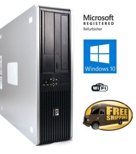 Fast HP Desktop PC Computer Dual Core 3.4Ghz 8GB 2TB Windows 10 Pro WIFI monitor