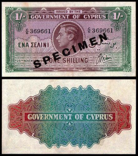 CYPRUS 1 SHILLING (P20s) 1944 SPECIMEN UNC