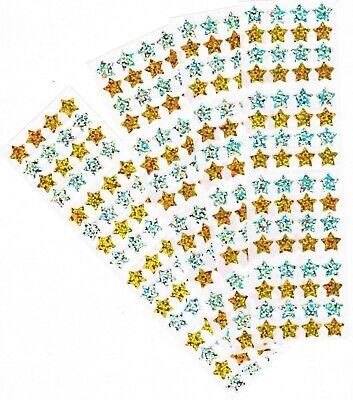 Hambly Studios (HAMBLY Studios Gold & Silver Sparkly STARS Scrapbook Stickers! 4 Strips! )