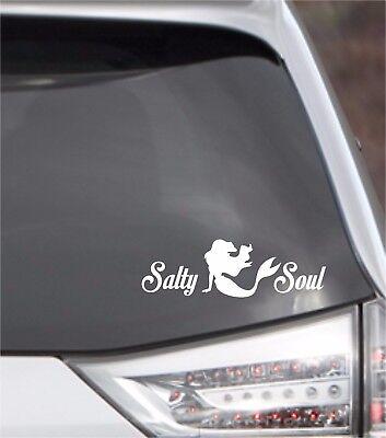 Vinyl Decal ... * SALTY SOUL Mermaid * .. Car Salt Life Laptop Sticker Decal](Mermaid Stickers)