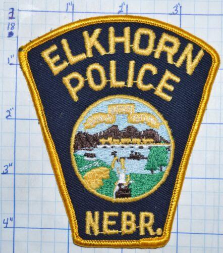 NEBRASKA, ELKHORN POLICE DEPT DARK BLUE PATCH