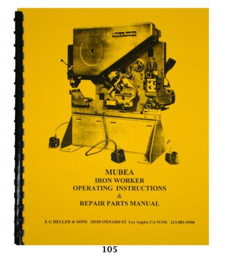 Mubea KBL Optima 71-5 Ironworker Operating & Repair Parts Manual *105