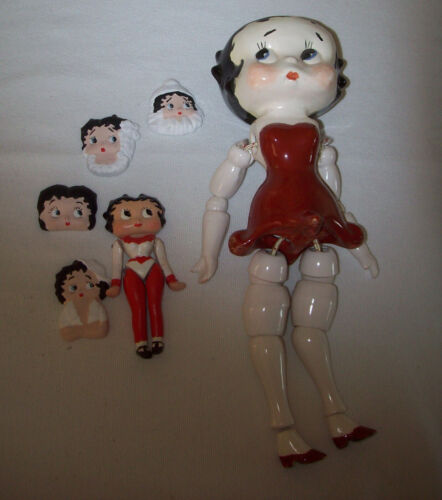 "BETTY BOOP 6 LOT DOLL BODY CHINA PORCELAIN HAND PAINTED,JOINTED LEGS,ARMS 11"" 4"""