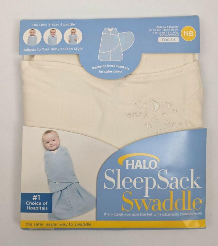Halo Unisex Newborn Cream 3 Months Cotton Sleep Sack Swaddle NEW