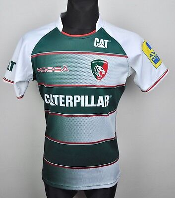 6914d605cf4 LEICESTER TIGERS Rugby Union Shirt Adult Medium Men s Jersey Green 2015  2016 M