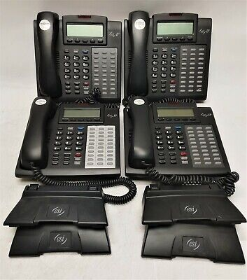 Lot Of 4 Esi Ipfp 2 48 Key Business Phones W Stands Handsets