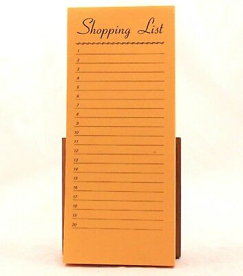 Two 2 50 Page Shopping List Yelloworange Note Pads. 8 12 By 3 34