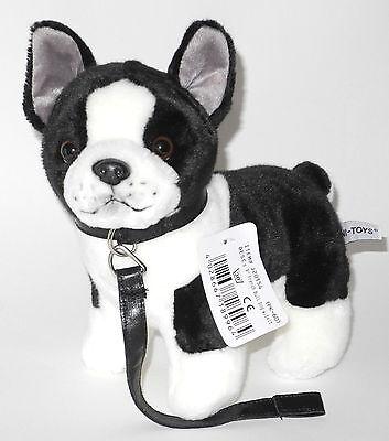 Uni-Toys Hund Französische Bulldogge Bully ca. 23cm hoch mit Leine ()
